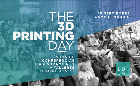 """EDDM Training & Solutions presents the event """"The 3D Printing Day"""", a session filled with talks, counseling and workshops in 3D printing"""