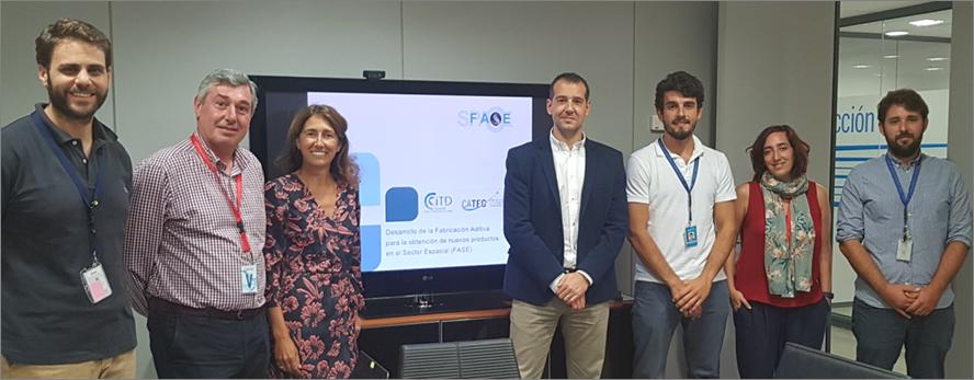 """CiTD y FADA-CATEC desarrollan el proyecto """"Fase"""" para el desarrollo de nuevos productos dentro del sector aeroespacial"""