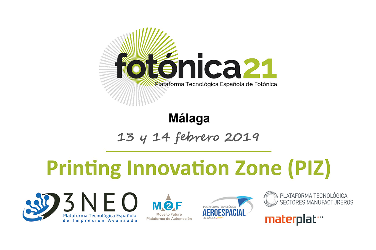 Fotónica21, coordinated by AIMEN, is part of the technological alliance ·PRINTING INNOVATION ZONE 2019·