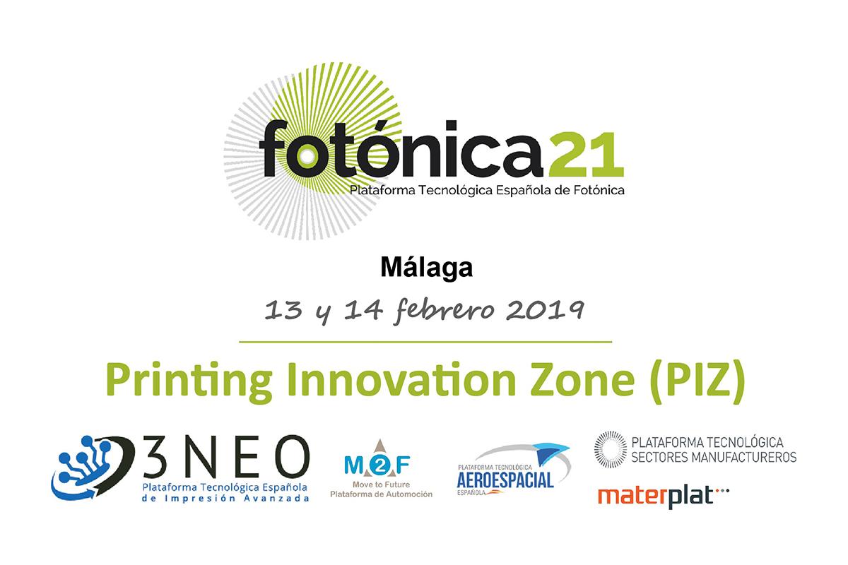 """Fotónica21, coordinado por AIMEN, forma parte de la alianza tecnológica """"PRINTING INNOVATION ZONE 2019"""""""