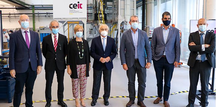 CEIT presenta las líneas estratégicas en fabricación aditiva y su nueva planta piloto de atomización