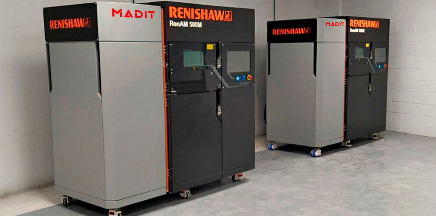Madit Metal stands on RENISHAW Metal Additive Manufacturing systems installing two RenAM 500M